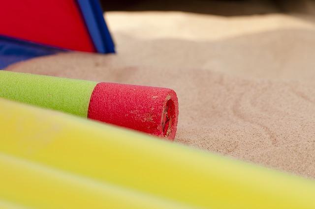 Venkovní zábava na pískovišti