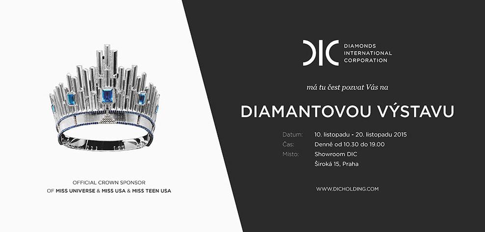 Pozvánka Diamantová výstava Diamonds International Corporation