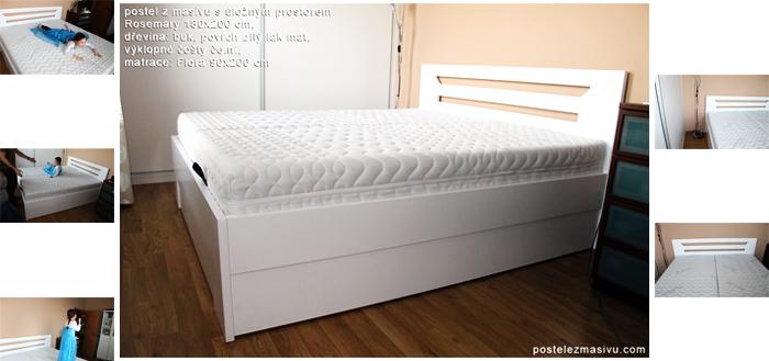 Praktické postele zmasivu súložným prostorem pro vaše pohodlí